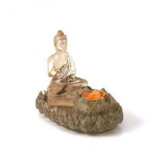 Bougeoir Bouddha Lotus Transparent